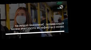 Коронавирус. Зеленский подписал закон о штрафах за отсутствие маски