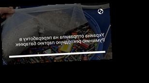 Украина отправила на переработку в Румынию рекордную партию батареек