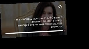 """Глава ОБСЕ: Вопросы Донбасса и Крыма нельзя считать замороженными, иначе Украина """"сдалась"""""""