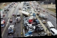 В США возросло число жертв массового ДТП, в котором столкнулось 130 машин