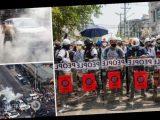 На протестах в Мьянме силовики применили оружие, есть погибшие. Фото и видео