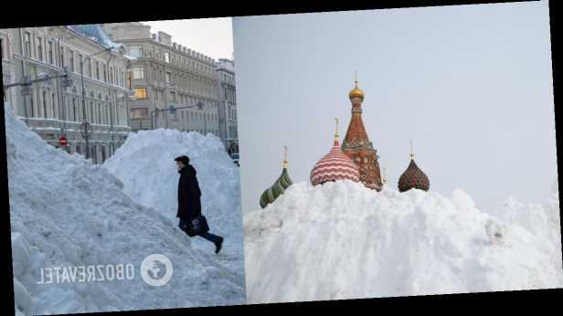 Россию накрыли сильные снегопады, Москва »остановилась» в 9-бальных пробках. Видео непогоды