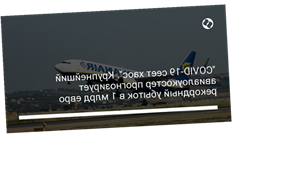 """""""COVID-19 сеет хаос"""". Крупнейший авиалоукостер прогнозирует рекордный убыток в 1 млрд евро"""