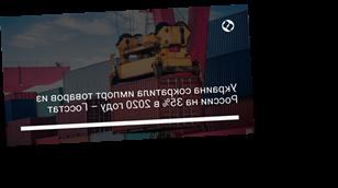 Украина сократила импорт товаров из России на 35% в 2020 году – Госстат