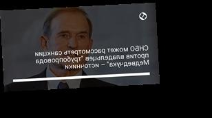 """СНБО может рассмотреть санкции против владельцев """"трубопровода Медведчука"""" – источники"""