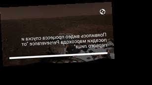 """Появилось видео процесса спуска и посадки марсохода Perseverance """"от первого лица"""""""