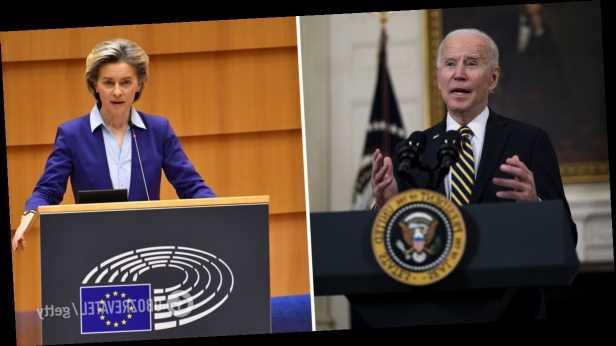Байден и президент Еврокомиссии обсудили Украину и заявили о едином стратегическом взгляде на РФ