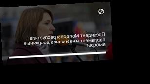 Президент Молдовы распустила парламент и назначила досрочные выборы