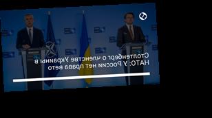 Столтенберг о членстве Украины в НАТО: У России нет права вето