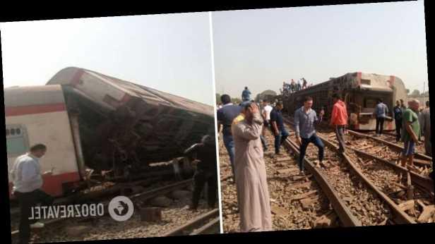 В Египте поезд сошел с рельс: погибли 8 человек, больше 100 ранены. Видео