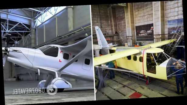 В России показали прототип самолета с американским двигателем. Фото