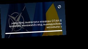 В НАТО назвали ключевые реформы, необходимые для сближения Украины с альянсом