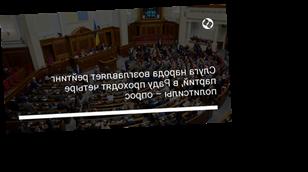 Слуга народа возглавляет рейтинг партий, в Раду проходят четыре политсилы – опрос