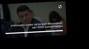Зеленский подписал закон о выплате карантинных 8000 грн