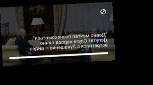 """""""Давно мечтал познакомиться"""". Депутат Слуги народа лично встретился с Лукашенко – видео"""