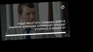 В МИД ожидают, что Путин будет просить Лукашенко изменить позицию по Крыму и Донбассу