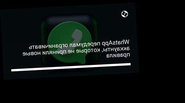 WhatsApp передумал ограничивать аккаунты, которые не приняли новые правила
