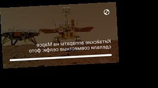 Китайские аппараты на Марсе сделали совместные селфи: фото