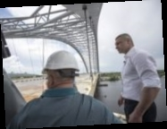 Кличко показал видео, как строят Подольско-Воскресенский мостовой переход (видео)
