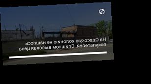 На Одесскую колонию не нашлось покупателей. Слишком высокая цена