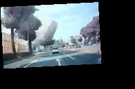 Опубликовано видео обрушения дома в Южной Корее