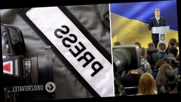 Порошенко поздравил украинских журналистов и поблагодарил за донесение »голоса правды»