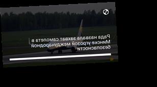 Рада назвала захват самолета в Минске угрозой международной безопасности