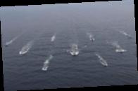 Российские корабли проведут учения рядом с британским авианосцем