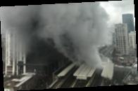 В Лондоне произошел сильный пожар на ж/д станции