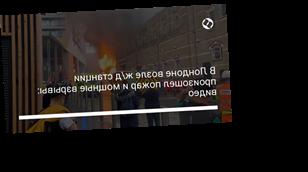 В Лондоне возле ж/д станции произошел пожар и мощные взрывы: видео