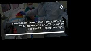 До конца года ожидается поставка в Украину 47 млн доз вакцины от коронавируса – Шмыгаль