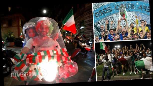 Италия празднует победу сборной по футболу на Евро-2020. Впечатляющие фото и видео