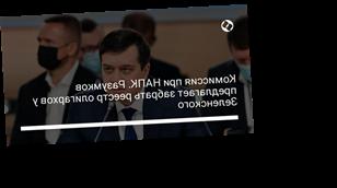 Комиссия при НАПК. Разумков предлагает забрать реестр олигархов у Зеленского
