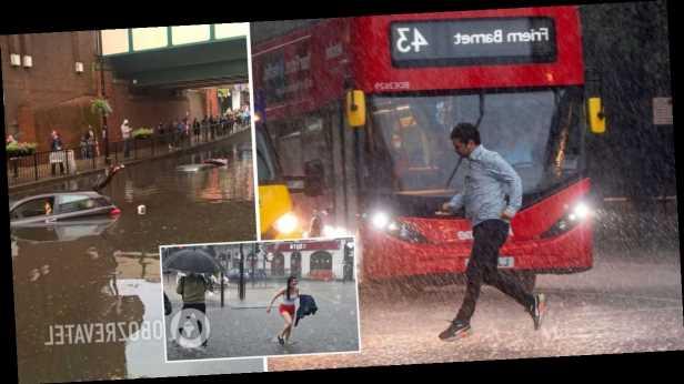 Лондон ушел под воду после мощного ливня, затоплены улицы и метро. Фото и видео