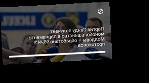 Партия Санду получает монобольшинство в парламенте Молдовы – обработано 99,44% протоколов