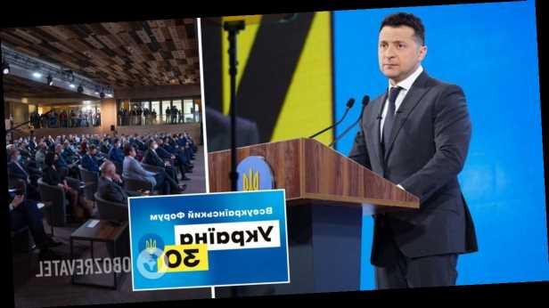 Ускорение вакцинации, переговоры с РФ и новые тарифы: главное из выступления Зеленского на форуме »Украина 30»