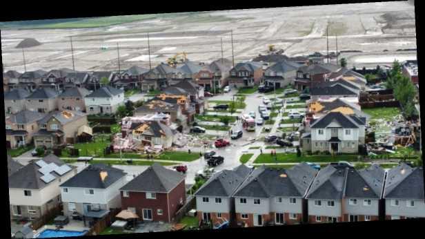 В Канаде пронесся разрушительный торнадо: повреждены десятки домов, есть пострадавшие. Видео