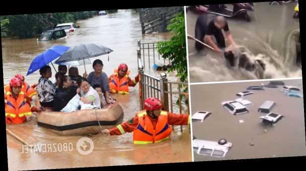 В Китае наводнение разрушило плотину и затопило метро: погибли более 10 человек. Фото и видео