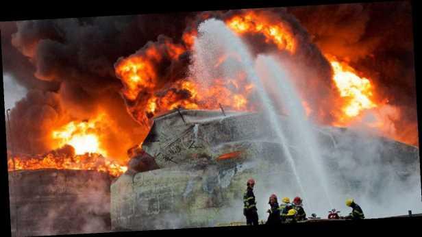 В Китае прогремел мощный взрыв на металлургическом заводе. Видео