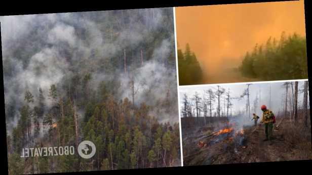 В России из-за лесных пожаров небо окрасилось в желтый цвет, людей призвали не покидать дома. Видео