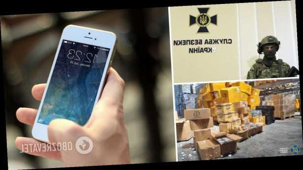 В Украину контрабандой хотели ввезти »посылки» с техникой Apple на 30 млн грн. Фото