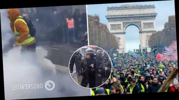 Во Франции восстали против COVID-сертификатов, полиция применила гранаты и слезоточивый газ. Фото и видео