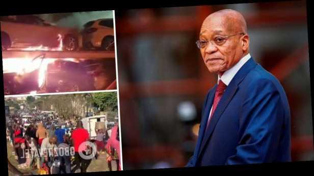 Жгут машины и грабят магазины: в ЮАР вспыхнули протесты на родине осужденного экс-президента. Видео