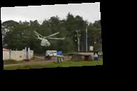 Появилось видео падения вертолета в Мексике