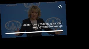 Россия угрожает участникам Крымской платформы