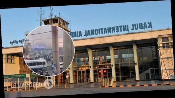 В аэропорту Кабула во время эвакуации вспыхнул пожар: есть данные о перестрелке. Фото и видео