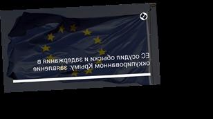 ЕС осудил обыски и задержания в оккупированном Крыму: заявление