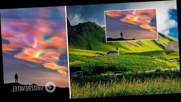 Фотограф снял невероятные »перламутровые» облака в Исландии. Фото