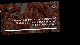 Госгеонедра в третий раз отменила продажу крупнейшего в Украине участка медных руд
