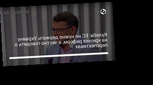 Кулеба: ЕС не нужно держать Украину на крючке реформ, а честно говорить о перспективах